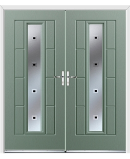 Vermont French Rockdoor in Chartwell Green with Quadra