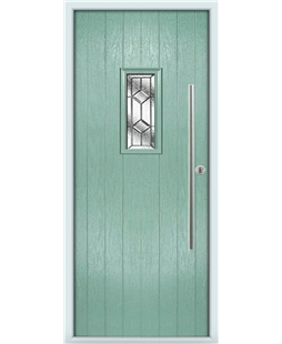 The Zetland Composite Door in Green (Chartwell) with Simplicity