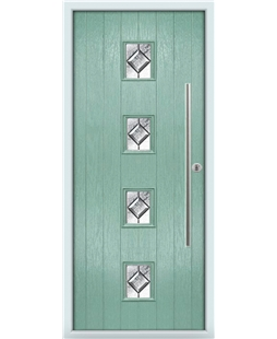 The Leicester Composite Door in Green (Chartwell) with Simplicity