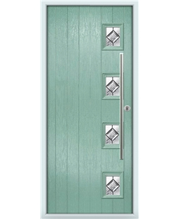 The Norwich Composite Door in Green (Chartwell) with Simplicity