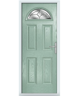 The Derby Composite Door in Green (Chartwell) with Simplicity
