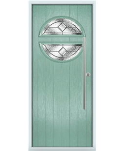 The Xenia Composite Door in Green (Chartwell) with Simplicity
