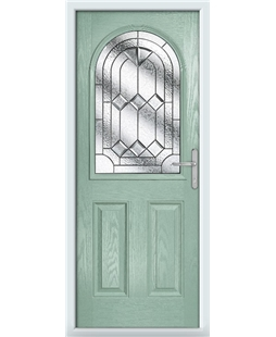 The Edinburgh Composite Door in Green (Chartwell) with Simplicity