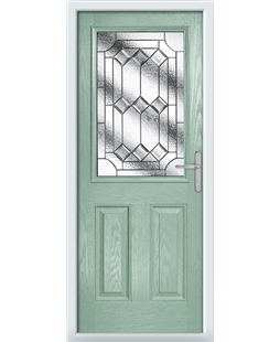 The Farnborough Composite Door in Green (Chartwell) with Simplicity