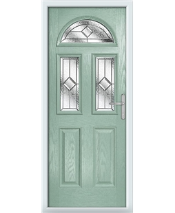 The Glasgow Composite Door in Green (Chartwell) with Simplicity
