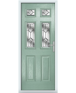 The Oxford Composite Door in Green (Chartwell) with Simplicity