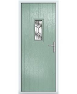 The Taunton Composite Door in Green (Chartwell) with Simplicity
