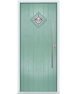 The Wolverhampton Composite Door in Green (Chartwell) with Simplicity