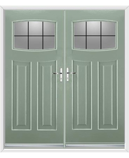 Newark French Rockdoor in Chartwell Green with Square Lead