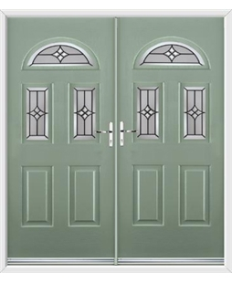 Tennessee French Rockdoor in Chartwell Green with Summit