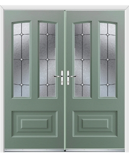 Illinois French Rockdoor in Chartwell Green with Trinity