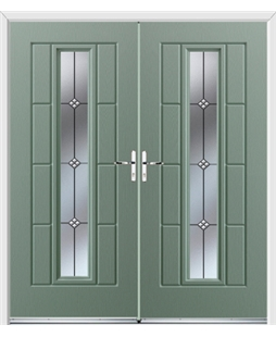Vermont French Rockdoor in Chartwell Green with Trio