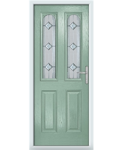 The Aberdeen Composite Door in Green (Chartwell) with Simplicity