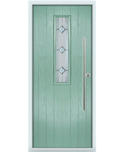 The York Composite Door in Green (Chartwell) with Simplicity