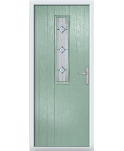 The Sheffield Composite Door in Green (Chartwell) with Simplicity