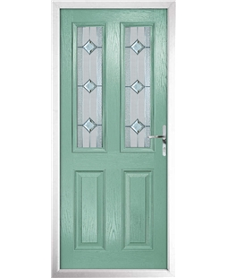The Cardiff Composite Door in Green (Chartwell) with Simplicity