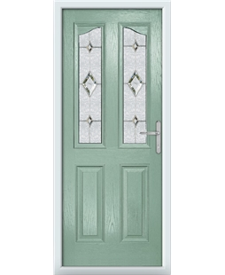 The BIrmingham Composite Door in Green (Chartwell) with Crystal Diamond