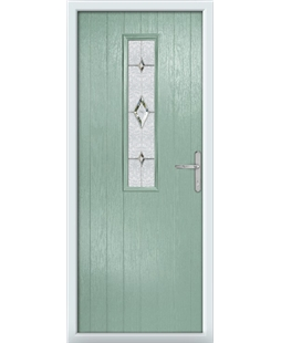 The Sheffield Composite Door in Green (Chartwell) with Crystal Diamond
