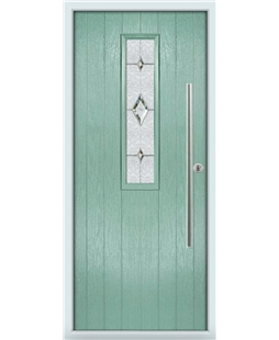 The York Composite Door in Green (Chartwell) with Crystal Diamond