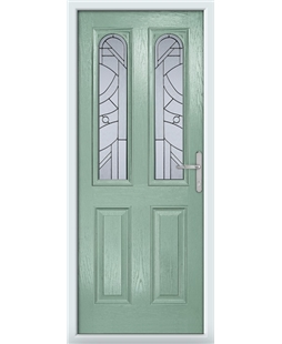 The Aberdeen Composite Door in Green (Chartwell) with Zinc Art Abstract