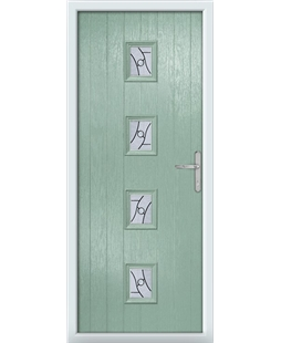 The Uttoxeter Composite Door in Green (Chartwell) with Zinc Art Abstract