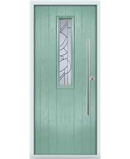 The York Composite Door in Green (Chartwell) with Zinc Art Abstract