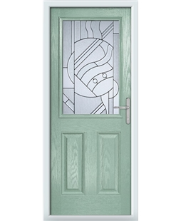 The Farnborough Composite Door in Green (Chartwell) with Zinc Art Abstract