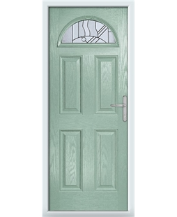 The Derby Composite Door in Green (Chartwell) with Zinc Art Abstract
