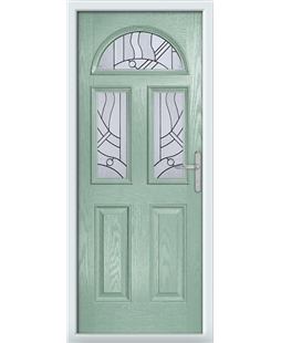 The Glasgow Composite Door in Green (Chartwell) with Zinc Art Abstract
