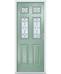 The Oxford Composite Door in Green (Chartwell) with Zinc Art Clarity