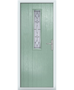 The Sheffield Composite Door in Green (Chartwell) with Zinc Art Clarity