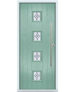 The Leicester Composite Door in Green (Chartwell) with Zinc Art Elegance