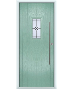 The Zetland Composite Door in Green (Chartwell) with Zinc Art Elegance