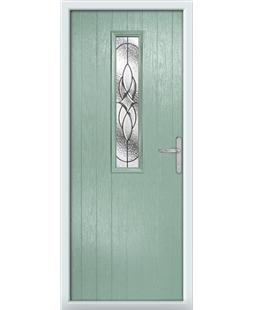 The Sheffield Composite Door in Green (Chartwell) with Zinc Art Elegance