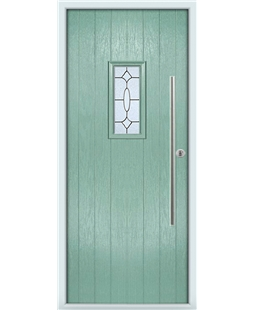 The Zetland Composite Door in Green (Chartwell) with Zinc Art Clarity