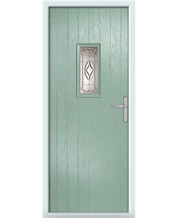 The Taunton Composite Door in Green (Chartwell) with Prism