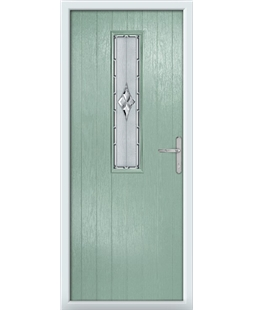 The Sheffield Composite Door in Green (Chartwell) with Radiance