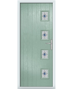 The Preston Composite Door in Green (Chartwell) with Blue Daventry