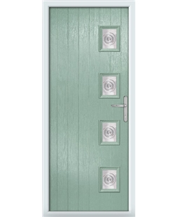 The Preston Composite Door in Green (Chartwell) with Bullion