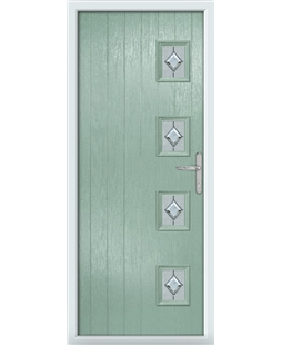 The Preston Composite Door in Green (Chartwell) with Cameo
