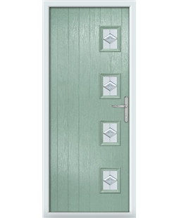 The Preston Composite Door in Green (Chartwell) with Eclipse