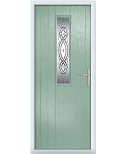 The Sheffield Composite Door in Green (Chartwell) with Reflections