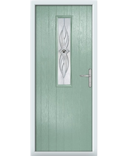 The Sheffield Composite Door in Green (Chartwell) with Westminster