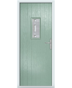 The Taunton Composite Door in Green (Chartwell) with Milan