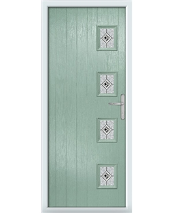 The Preston Composite Door in Green (Chartwell) with Black Daventry