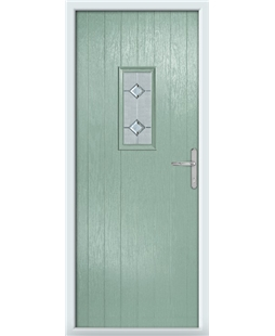 The Taunton Composite Door in Green (Chartwell) with Cameo