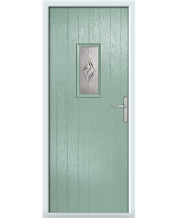 The Taunton Composite Door in Green (Chartwell) with Chelsea