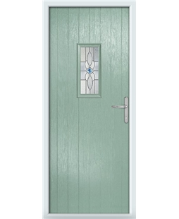The Taunton Composite Door in Green (Chartwell) with Daventry Blue