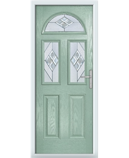 The Glasgow Composite Door in Green (Chartwell) with Eclipse