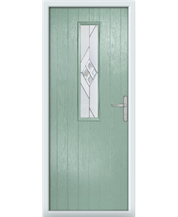 The Sheffield Composite Door in Green (Chartwell) with Eclipse